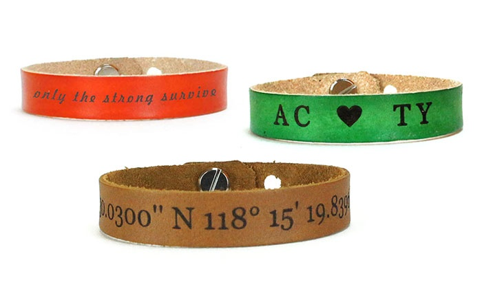 Up To 39 Off Engraved Leather Bracelets From Urban Wrist