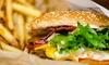 Hamburger o sandwich e birra