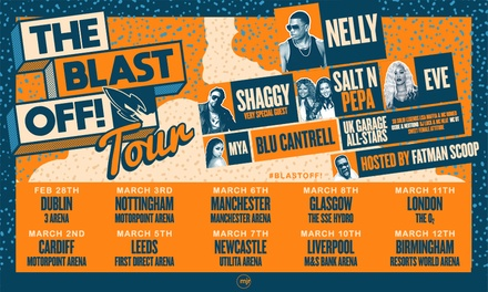 The Blast Off! Tour with Nelly, Shaggy, Salt N Pepa, Eve + more!, Manchester
