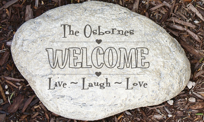 Giftsforyounow up to 50 off groupon up to 50 off custom engraved garden stone workwithnaturefo