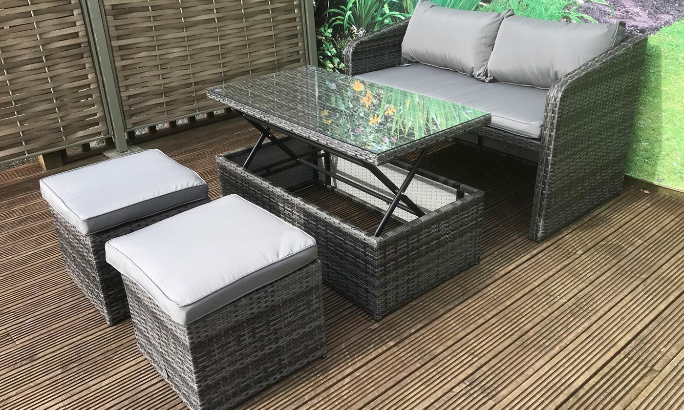 gemma outdoor sofa dining sets