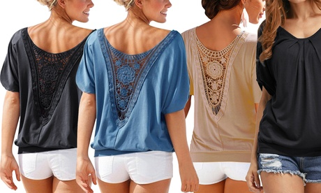1 o 2 blusas de encaje para mujer Oferta en Groupon