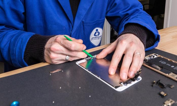 Les Artisans Du Mobile - Bordeaux - Bordeaux: Pose vitre de protection, Remplacement batterie OU écran Iphone + protection écran chez Les Artisans du Mobile dès 9,90€