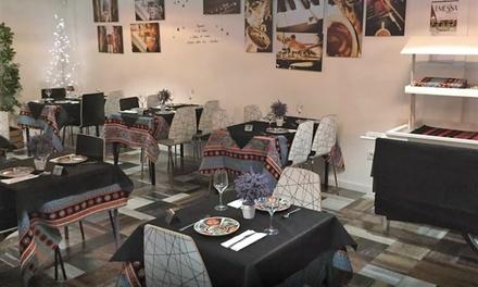 Menú libanés para 2 o 4 personas con degustación de entrantes, principal, postre y bebida desde 24,95 € en Emessa