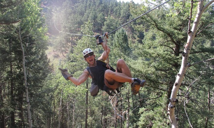 Six-Zipline Night Adventure for One or Two from Denver Adventures (Up to 39% Off)