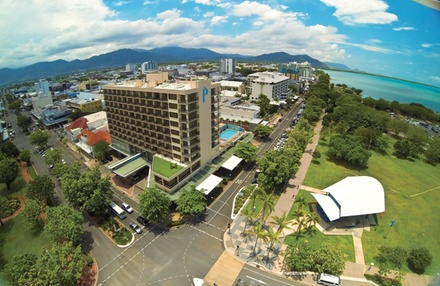 Cairns: 1-3 Nights for Two People with Breakfast at 4.5* Pacific Hotel Cairns