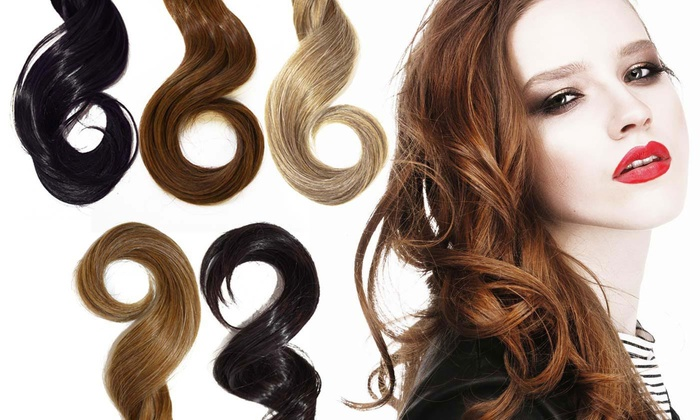 Wavy 18 clip in hair extensions groupon goods wavy instant length 18 clip in hair extensions wavy instant length pmusecretfo Choice Image