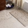 Lavish Home Scroll Memory Foam Bath Mat Set (2-Piece)