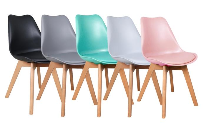 Design stoel met kussen groupon