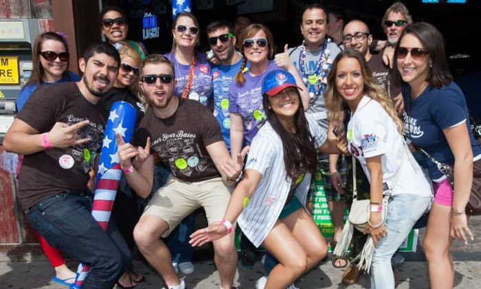 Festa Parties - Murphy's Bleachers: $12 for Cover Your Bases Baseball-Themed Pub Crawl by Festa Parties on Saturday, May 9 ($22 Value)