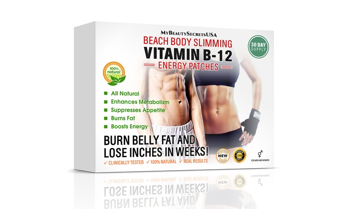 My Beauty Secrets USA: $16.99 for 30-Day Supply of Vitamin B12 Slimming and Energy Patch from My Beauty Secrets USA ($99 Value)