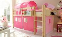 Ticaa Kinderbett aus Kiefernholz, Modell Malte oder Manuel in der Farbe der Wahl