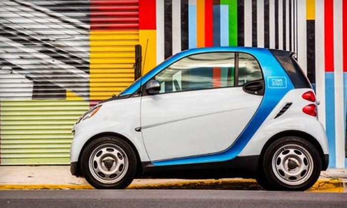 car2go - Miami: $17 for a Car-Sharing Registration and 60 Minutes of Driving from car2go (Up to $57.80 Value)