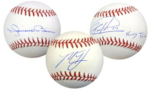 MLB Autographed Baseballs with Certificate of Authenticity