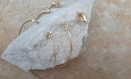 1 o 3 pulseras de plata chapada en oro rosa de 18 ct disponible en 3 modelos