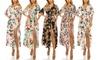 Haute Edition Button-Up Floral Print Party Maxi Dress