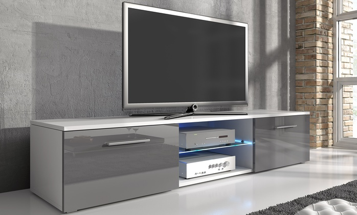 Samuel TV Cabinet with LED Lighting from £69.98 With Free Delivery (Up to 53% Off)