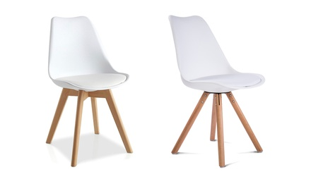 Lot de 4 chaises au design scandinave