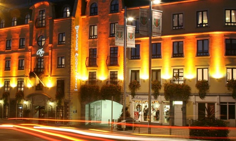 Co. Dublin: 1 or 2 Nights for Two with Breakfast, Two-Course Dinner, Wine and Late Check-Out at 4* Bracken Court Hotel