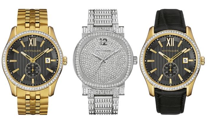 wittnauer men s crystal dress watch manufacturer refurbished groupon rh groupon com Wittnauer Watch Identification Old Wittnauer Watch Values