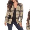 Women's Plus-Size London Plaid Blazer (Size 3X)