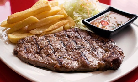 Two-Course Angus Steak Lunch for Two at New Kobee