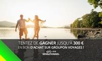 Tentez de gagner 100, 200 ou jusquà 300 € de réduction pour un voyage, en participant à un concours-loterie