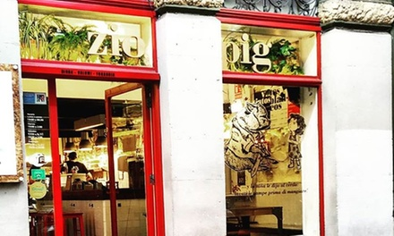 Menú italiano para 2 o 4 personas con entrante principal, postre y bebida en Zio Pig (hasta 44% de descuento)