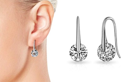 One or Two Pairs of Philip Jones Atlas Earrings with Crystals from Swarovski®