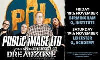 PiL and Dreadzone, Standing Ticket, 18 - 19 November, Birmingham or Leicester
