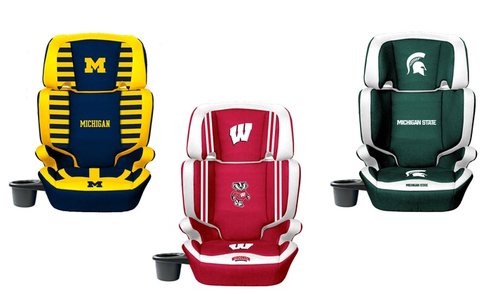 NCAA 2-in-1 High-Back Booster Seat