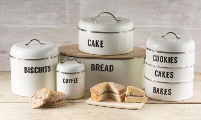Retro Style Kitchen Storage Set Groupon Goods