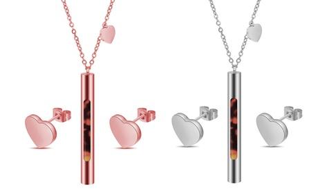 1 o 2 sets de colgante y pendientes Your Heart con incrustaciones de cristales de Swarovski®