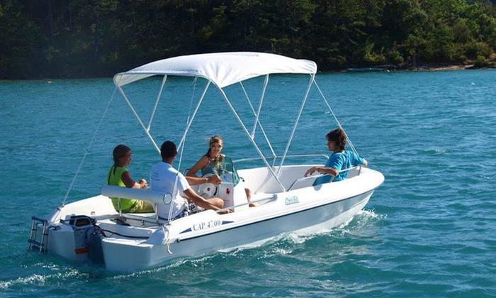 une demi journ e ou une journ e de location de bateau aqualoisirs 13 groupon. Black Bedroom Furniture Sets. Home Design Ideas