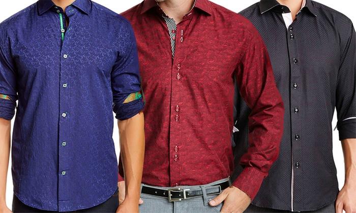 Bespoke Moda Men's Long Sleeve Button-Down Shirts