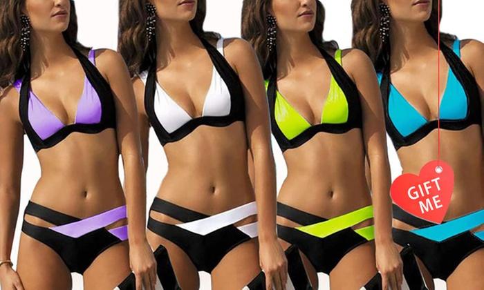 UDS Global Limited: $16 for a Colour-Block Multi-Strap Bikini