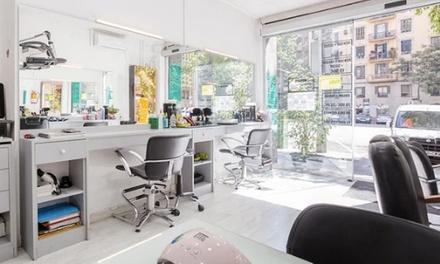 Sesión de peluquería con opción a tinte y mechas en Nok Estilistes (72% de descuento)