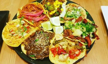 Menú mexicano para 2 con gringa, quesadilla, taco y bebida o Margarita desde 19,95 € en El Rey De Los Tacos
