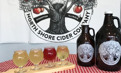 image for Tasting Flights and Take-Home Glasses at North Shore Cider Company (Up to 38% Off). Two Options Available