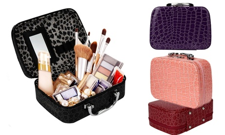 One or Two Crocodile Pattern Make-Up Boxes