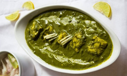 ThreeCourse Indian Lunch with Wine for One $19Two $35 or Four People $65 at One Mb Up to $166 Value