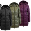 Galaxy Spire Women's Silhouette Puffer Jackets. Plus Sizes Available.