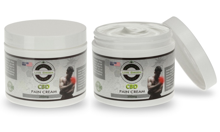 CBD Pain Relief Cream 250mg from Live Green Hemp