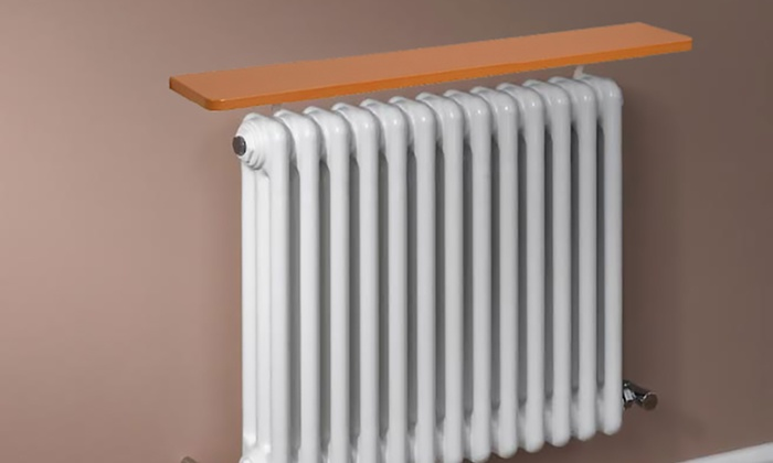 Oak-Effect Radiator Shelf (£9.98)