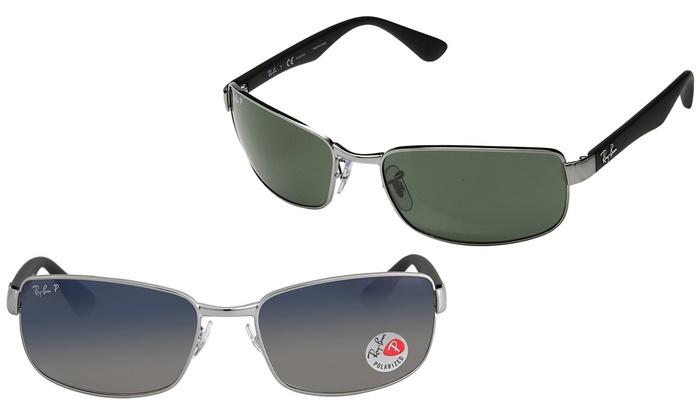 9e76858efc Ray-Ban Rectangular Polarized Sunglasses for Men and Women