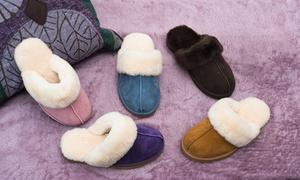 (Mode)  Chaussons fourrées en peau de mouton  -66% réduction
