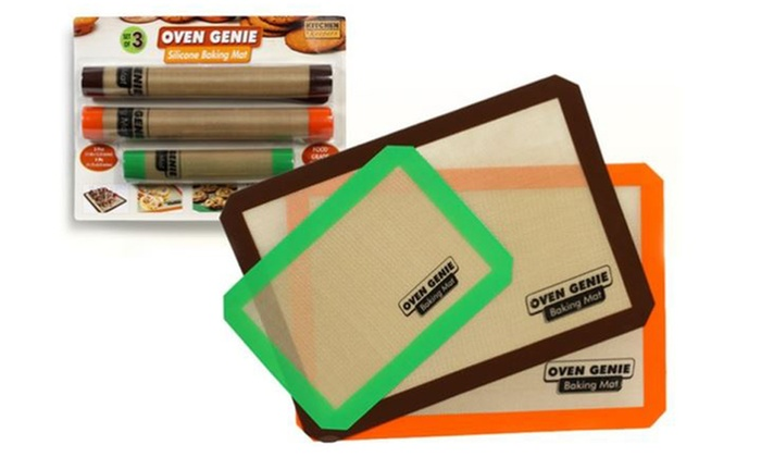 3 Pack Of Silicone Baking Mats Groupon Goods
