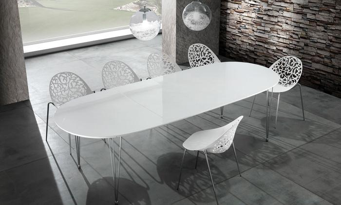 Tavolo ovale allungabile groupon goods for Tavolo ovale allungabile moderno
