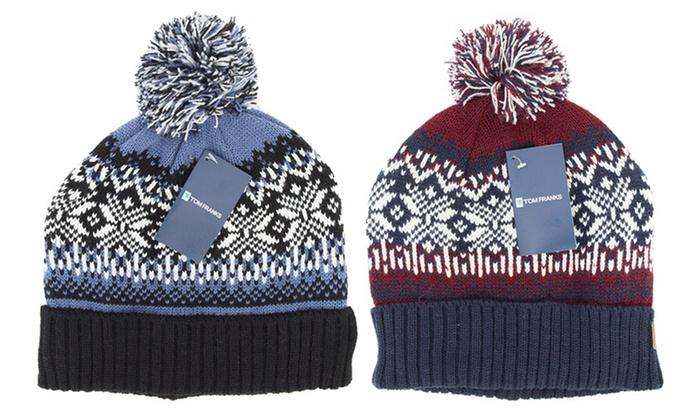 d40aa7e3e3a Up To 51% Off Men s Fair Isle Pom-Pom Hat
