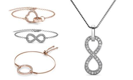 1 o 2 pulseras o collar Edyna con cristales de Swarovski®